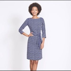 "BODEN ""Smart Day"" Belted 3/4 Sleeve Kelly Dress 6"